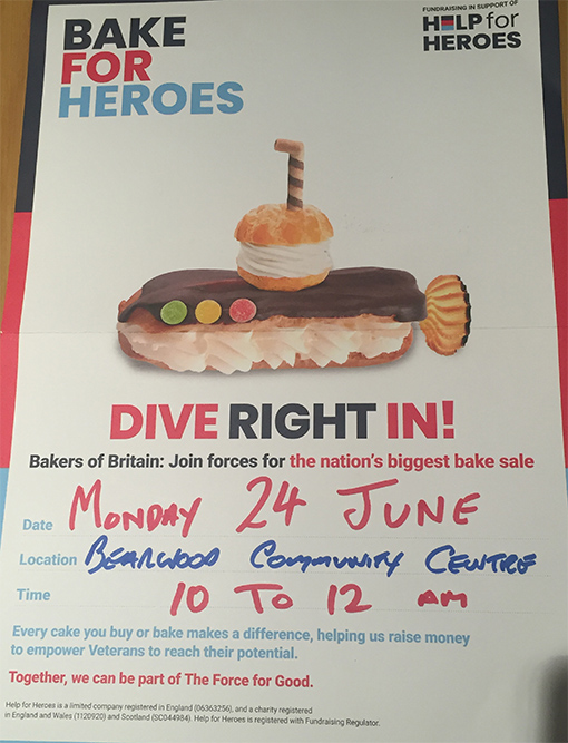 Bake for Heroes 24th June